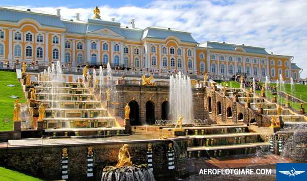 Grand Cascade in Peterhof Palace, Saint Peresburg, Russia