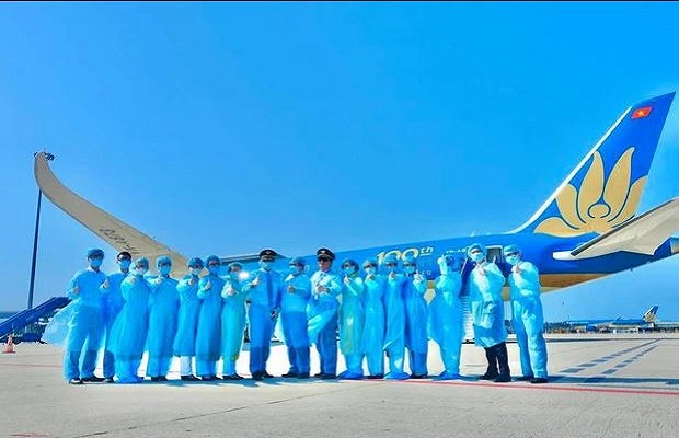 Đón chào chuyến bay từ Seoul về Đà Nẵng tháng 8/2021
