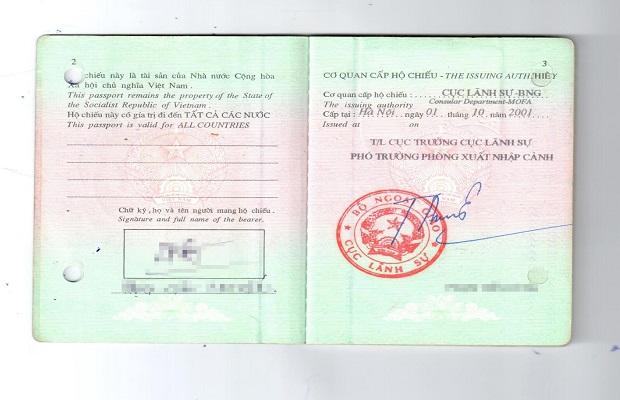 Giấy phép thông hành dành cho người Việt